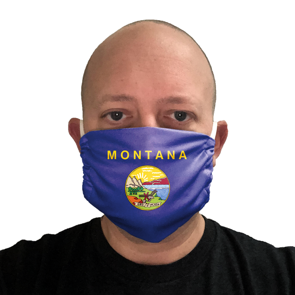 Montana Flag Face Mask