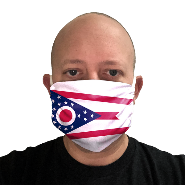 Ohio Flag Face Mask
