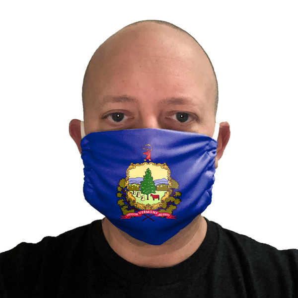 Vermont Flag Face Mask