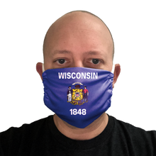 Wisconsin Flag Face Mask