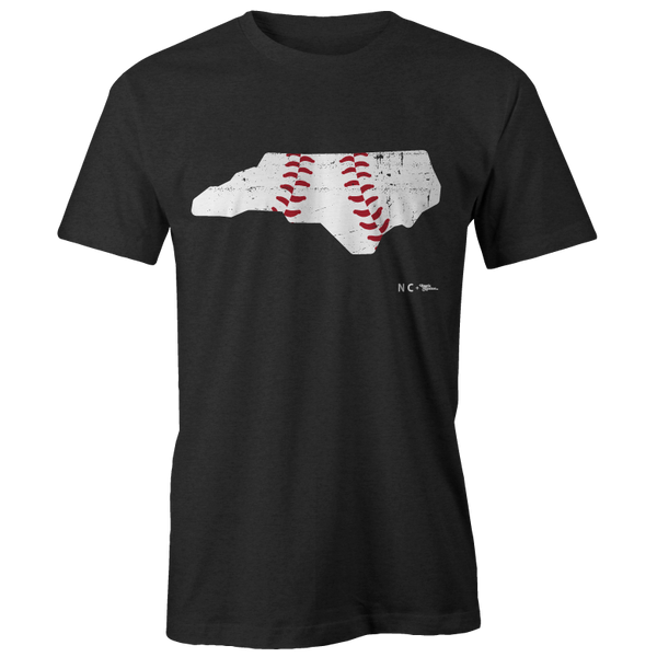 North Carolina Baseball Shape Printed Tee