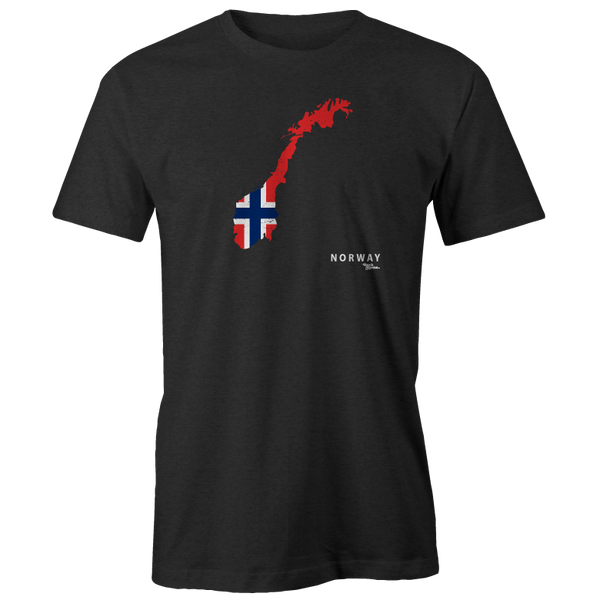 Norway Flag Shape Tee