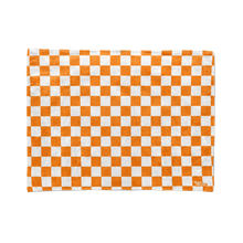 Orange Checkered Stadium Blanket