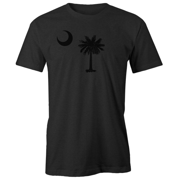 Dark South Carolina Flag Heathered Charcoal Tee