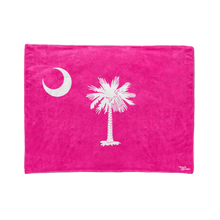 Fluorescent Pink South Carolina Flag Stadium Blanket