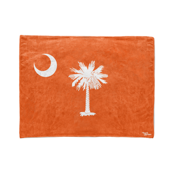 Orange South Carolina Flag Stadium Blanket