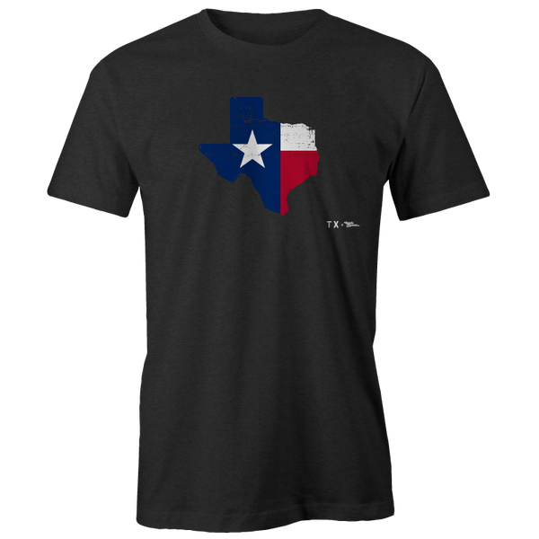 Texas Flag Shape Printed Tee