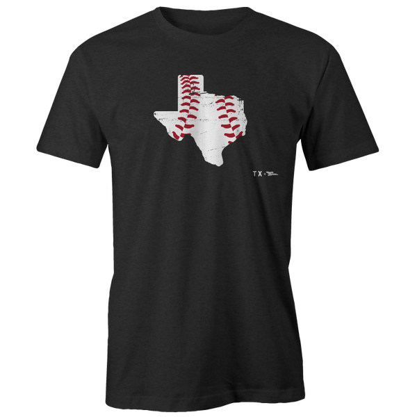 Texas Baseball Shape Printed Tee
