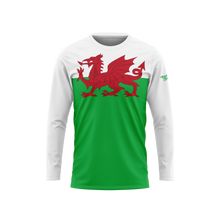 Wales Flag Long Sleeve Performance Shirt