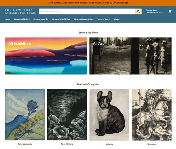 IFPDA New York Print Fair - virtual edition