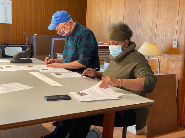 Judy Bowman and Norm Stewart documenting the edition