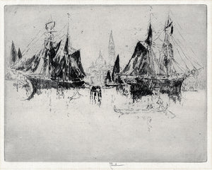 Joseph Pennell: Venice: Shipping