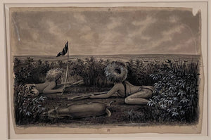 Cassilly Adams: NATIVE AMERICANS HUNTING - TWO DRAWINGS