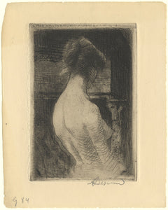 Paul-Albert Besnard: Female Nude, seen from behind