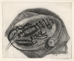 George Constant: Lobster and Lemon on a Plate