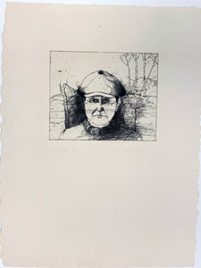 Jim Dine: SELF-PORTRAIT IN A FLAT CAP (WINTER)