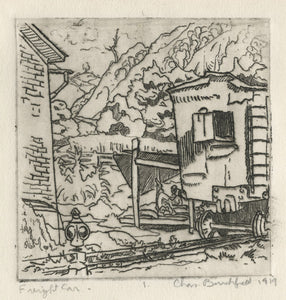 Charles Burchfield: Freight Car