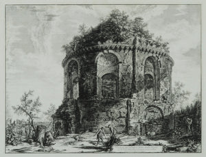 Giovanni Battista Piranesi: Veduta del Tempio, detto della Tosse su la Via Tiburtina, un miglio vicino a Tivoli (View of the so-called Temple of the Cough on the Via Tiburtina, a Mile from Tivoli), from Vedute di Roma (Views of Rome)