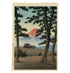 Kawase Hasui: Tagonoura no yuu (Mount Fuji Seen from Tagonoura, Evening)