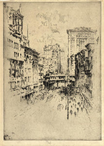 Joseph Pennell: Forty Second Street