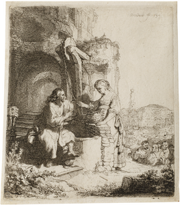 van Rijn Rembrandt: Christ and the Woman from Samaria, at the Ruins