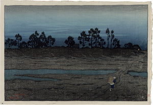 Ito Shinsui: Shinsui 伊東深水: Evening at the Tama River