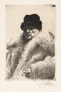 Anders Zorn: Anders Zorn, Self Portrait