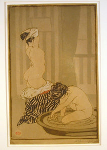 Adolphe Beaufrere: Femmes au Tub (Women Bathing)