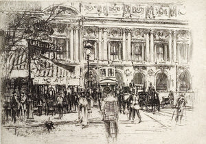 William Walcot: Café de la Paix, place de l'Opéra, Paris.