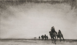James Mcbey: Dawn.  The Camel Patrol Setting Out