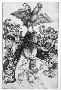 Albrecht Durer: Coat of Arms with Lion and Cock