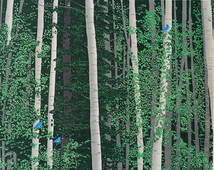 Andrea Rich: Aspen and Bluebirds