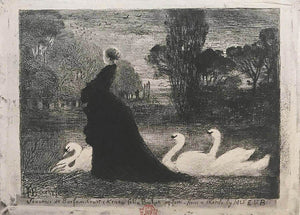 Felix Buhot: Woman with Swans