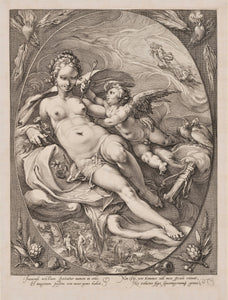 Goltzius, Hendrick, Venus and Cupid, Engraving