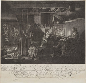 GOUDT, HENDRICK, Jupiter and Mercury in the House of Philemon and Baucis, Engraving