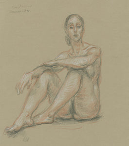 Cadmus, Paul: Double sided chalk drawing: Recto: Seated Nude Dancer, Verso: Standing Nude
