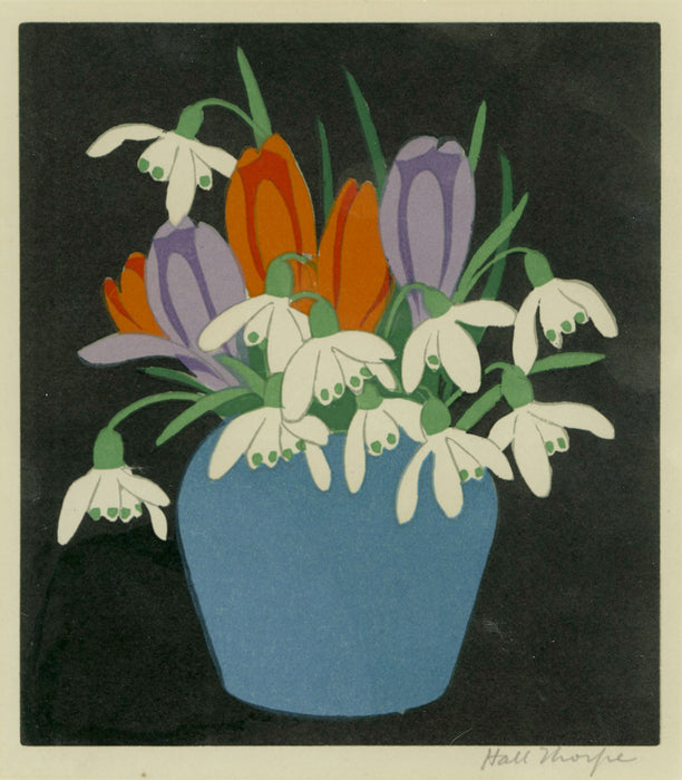 Hall Thorpe, John: Crocus and Snowdrops (Flower Piece)