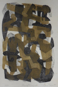 "ROGERS: ""Sculptural Forms 2 (Brown, Black, Beige)"