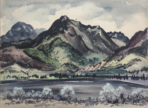 Adolf Dehn: Mountains and Lake