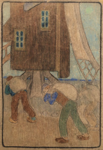 B. J. O. Nordfeldt: WINDMILL AND WORKERS