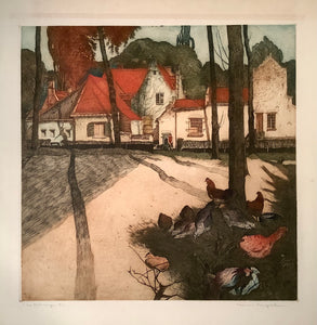 Maurice Langaskens: Les Toits Rouges - The Red Roofs