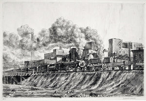 Reginald Marsh: Erie RR and Factories