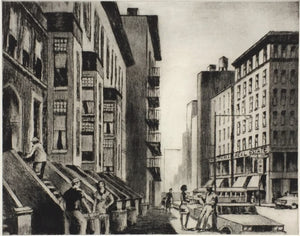Lawrence Nelson Wilbur: Old Brownstones-- New York.