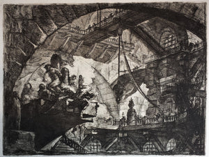 Giovanni Battista Piranesi: Prisoners on a projecting platform