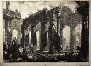Giovanni Battista Piranesi: Rear View of the Pronaos of the Temple of Neptune
