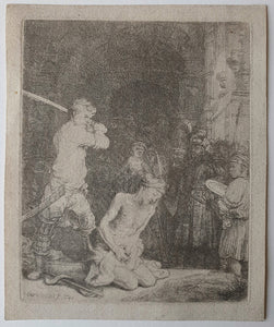van Rijn Rembrandt: The Beheading of St John the Baptist