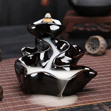 Load image into Gallery viewer, Porcelain Waterfall Backflow Incense Burner/ Cone Sticks Holder