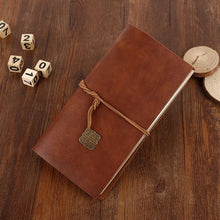 Load image into Gallery viewer, Classic High Quality Faux Leather Traveler's Journal 22x12cm
