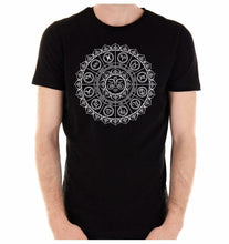 Load image into Gallery viewer, Zodiac Sun Wheel Medallion T-shirt