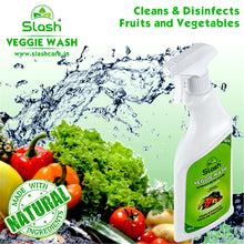Load image into Gallery viewer, Slash® Veggie Wash - Naturally Derived Fruit & Vegetable Cleanser (Pack of 3 x 500 ML + Spray)